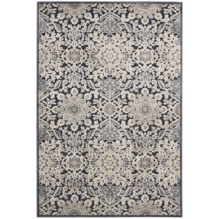 kathy ireland Bel Air Euro Century Marseille Charcoal Area Rug by Nourison (3'6 x 5'6)