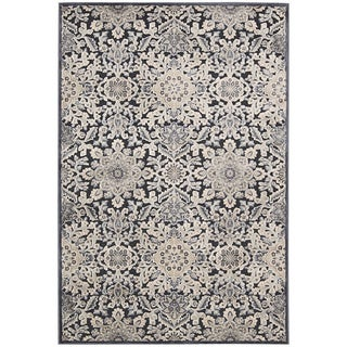 kathy ireland Bel Air Euro Century Marseille Charcoal Area Rug by Nourison (4'11 x 7')