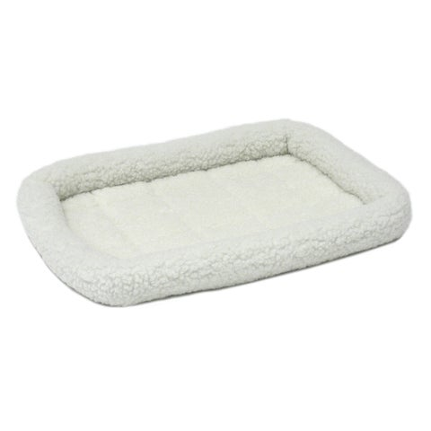 Midwest Quiet Time White Fleece Bolstered Pet Bed