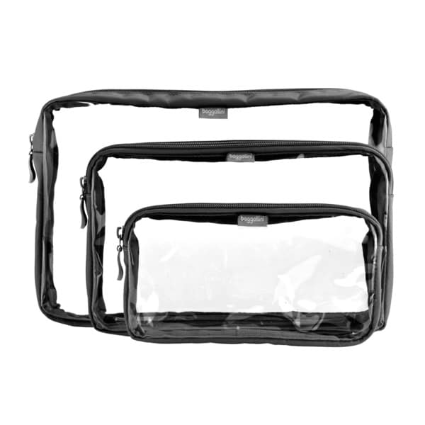 Shop Baggallini  Trio Baggs  Clear Travel Pouches (Set of 3) - Free Shipping  On Orders Over  45 - Overstock.com - 8353829 1c9ca816c5