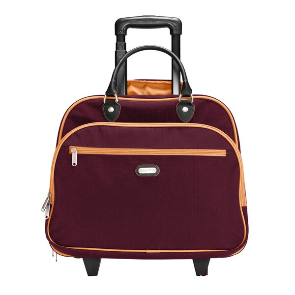 b038707247e7 Shop Baggallini Mulberry  Mango Rolling Tote Bag - Free Shipping Today -  Overstock.com - 8353836