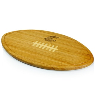 Picnic Time Kickoff Washington State Cougars Engraved Natural Wood Cutting Board
