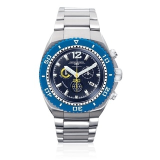 Jorg Gray Men's Silver/ Blue Stainless Steel Chronograph Watch