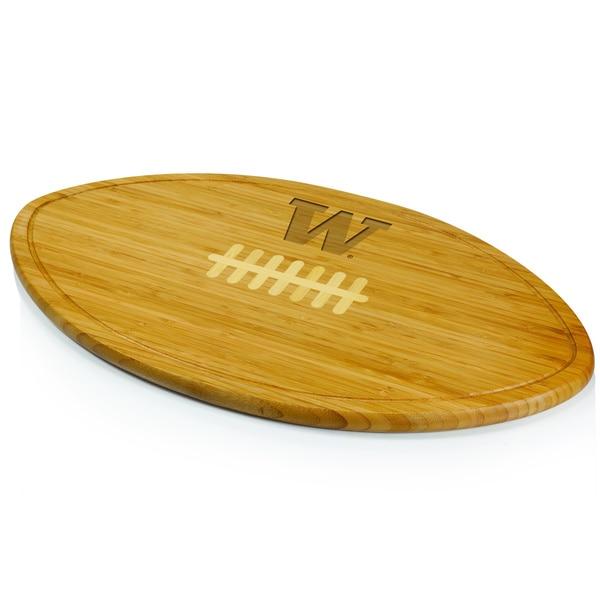 Picnic Time Kickoff University of Washington Huskies Engraved Natural Wood Cutting Board