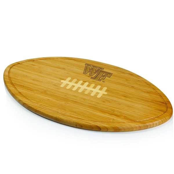 Picnic Time Kickoff University of Virginia Cavaliers Engraved Natural Wood Cutting Board