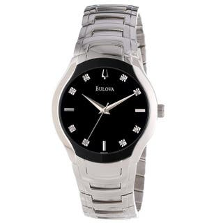 Bulova Men's Diamond Dial Watch|https://ak1.ostkcdn.com/images/products/8353883/8353883/Bulova-Mens-Diamond-Dial-Watch-P15662655.jpg?impolicy=medium