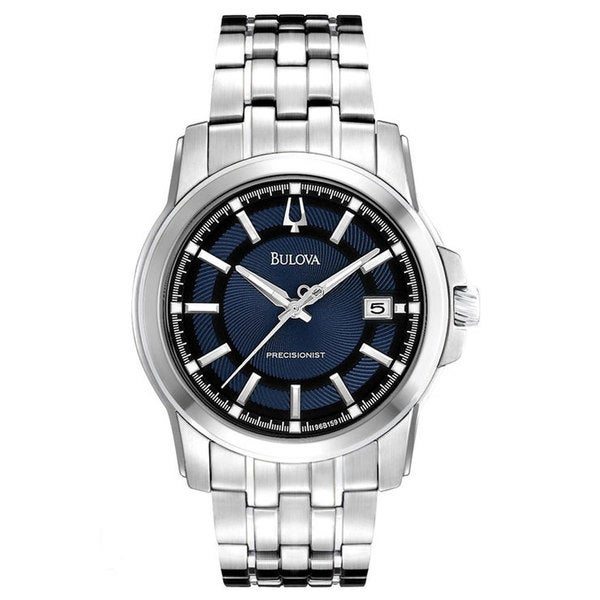 Shop Bulova Men S Precisionist Round Watch Free Shipping