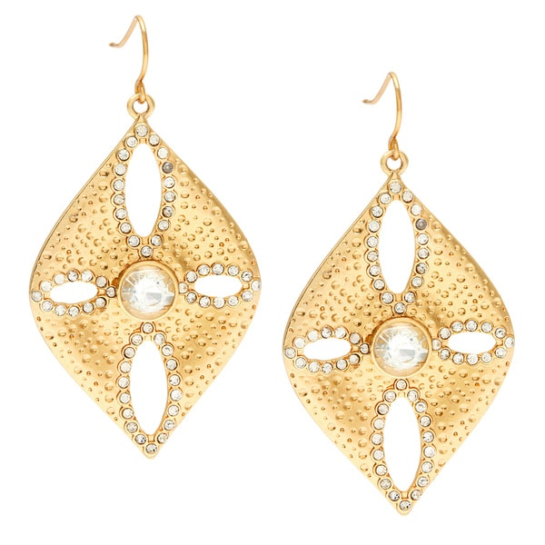 Carolee Gold Cubic Zirconia Sand Dollar Drop Earrings