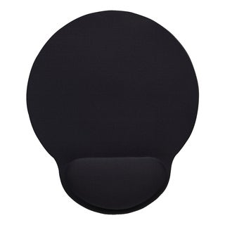 Manhattan Wrist-Rest Gel Mouse Pad, Black