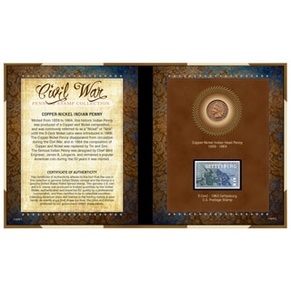 American Coin Treasures Civil War Penny and Stamp Collection