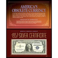 American Coin Treasures America's Obsolete Currency 1957 Silver Certificate