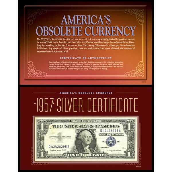 American Coin Treasures Americas Obsolete Currency 1957 Silver