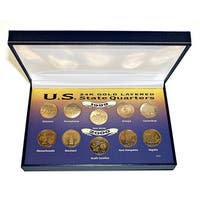 American Coin Treasures 24-karat 1999 and 2000 Gold-Layered Statehood Quarter Collection