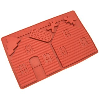 Freshware Gingerbread House Silicone Mold (Set of 2)