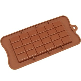 Freshware CB-607BR Brown Break-apart Chocolate Bar Silicone Mold