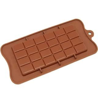 Freshware CB-607BR Brown Break-apart Chocolate Bar Silicone Mold|https://ak1.ostkcdn.com/images/products/8354960/P15663789.jpg?impolicy=medium