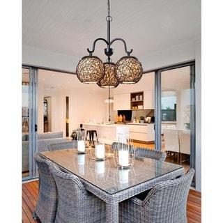Link to Gardner Blackened Bronze 3-light Outdoor Chandelier Similar Items in Outdoor Ceiling Lights