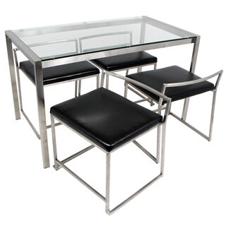Fuji 5-Piece Modern Stainless Steel Dining Set