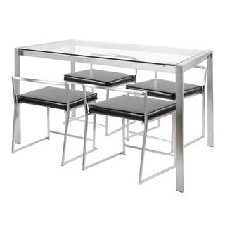 Fuji 5-Piece Modern Stainless Steel Dining Set