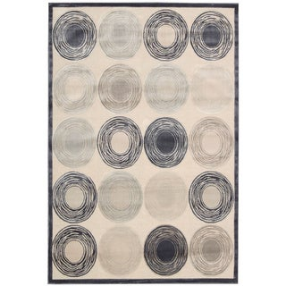 kathy ireland Bel Air Architectural Prelde Ivory Area Rug by Nourison (9' x 12')
