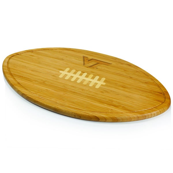 Picnic Time Kickoff Virginia Tech Hokies Engraved Natural Wood Cutting Board