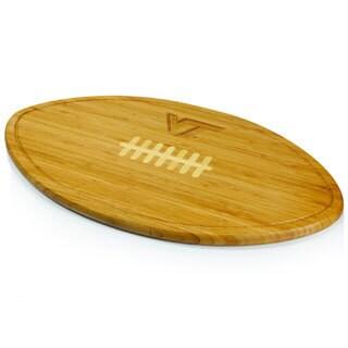 Picnic Time Kickoff Virginia Tech Hokies Engraved Natural Wood Cutting Board