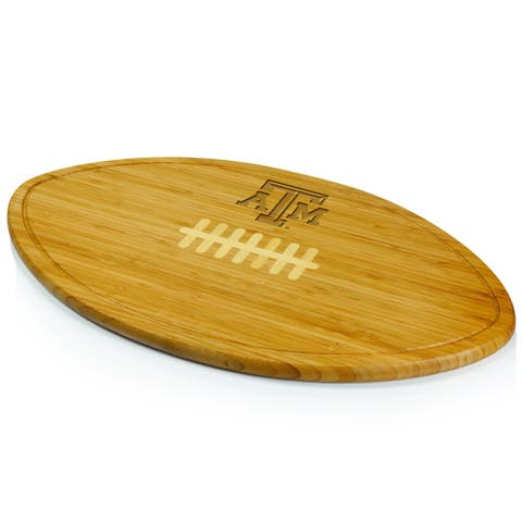 Picnic Time Kickoff Texas A&M Aggies Engraved Natural Wood Cutting Board