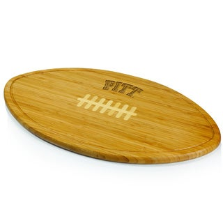 Picnic Time Kickoff University of Pittsburgh Panthers Engraved Natural Wood Cutting Board