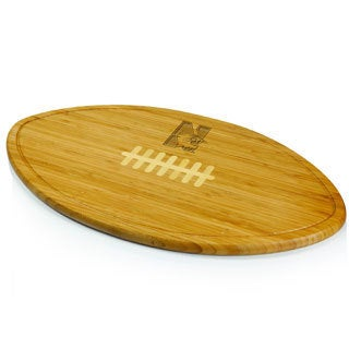 Picnic Time Kickoff Northwestern University Wildcats Engraved Natural Wood Cutting Board