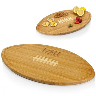 Picnic Time Kickoff Louisiana State University Tigers Engraved Natural Wood Cutting Board