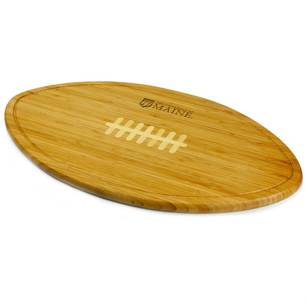 Picnic Time Kickoff University of Maine Black Bears Engraved Natural Wood Cutting Board