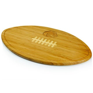 Picnic Time Kickoff Boise State Broncos Engraved Natural Wood Cutting Board