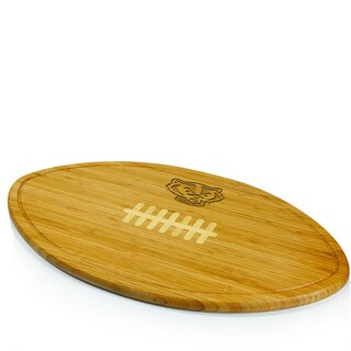 Picnic Time Kickoff University of Wisconsin Badgers Engraved Natural Wood Cutting Board