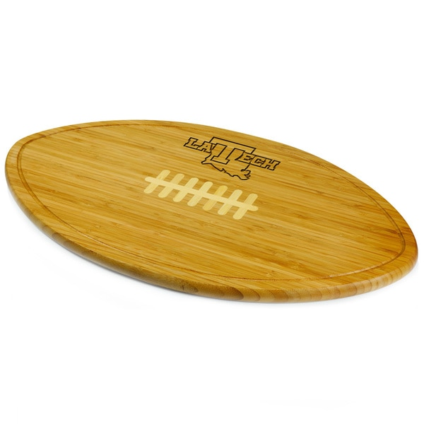 Picnic Time Kickoff Louisiana Tech Bulldogs Engraved Natural Wood Cutting Board - Brown
