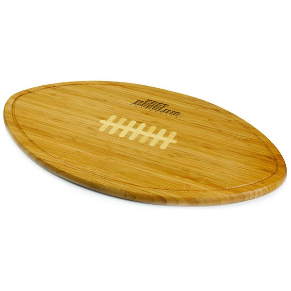 Picnic Time Kickoff East Carolina Pirates Engraved Natural Wood Cutting Board