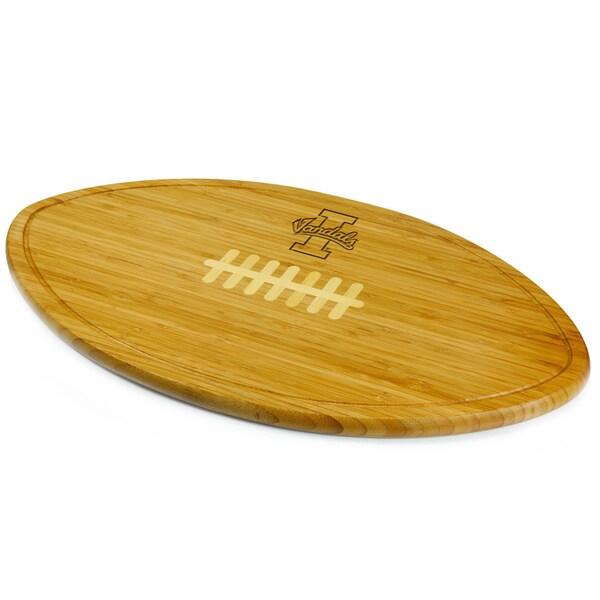 Picnic Time Kickoff University of Idaho Vandals Engraved Natural Wood Cutting Board
