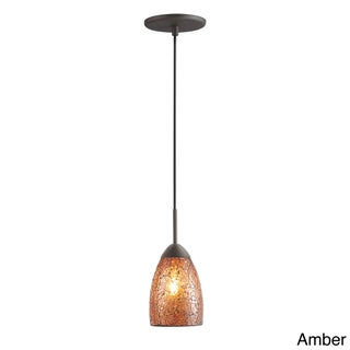 Venezia 1-light Mosaic Glass Metallic Bronze Finish Mini Pendant