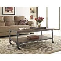 Ameriwood Home Cecil Rustic Wood Veneer Coffee Table