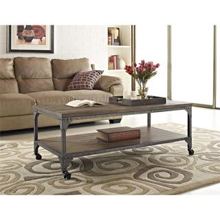 Ameriwood Home Cecil Rustic Wood Veneer Coffee Table