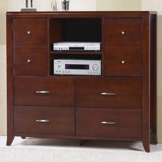 Bow Front 4-drawer 2-door Media Chest