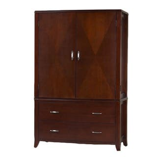 Bow Front 2 drawer 2 door Armoire. Armoires   Wardrobe Closets For Less   Overstock com