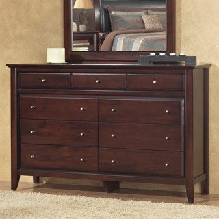 Contemporary Shaker Coco Finish 9-drawer Dresser