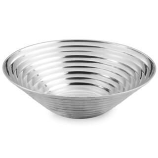 Ribbed Aluminum 17-inch Round Bowl