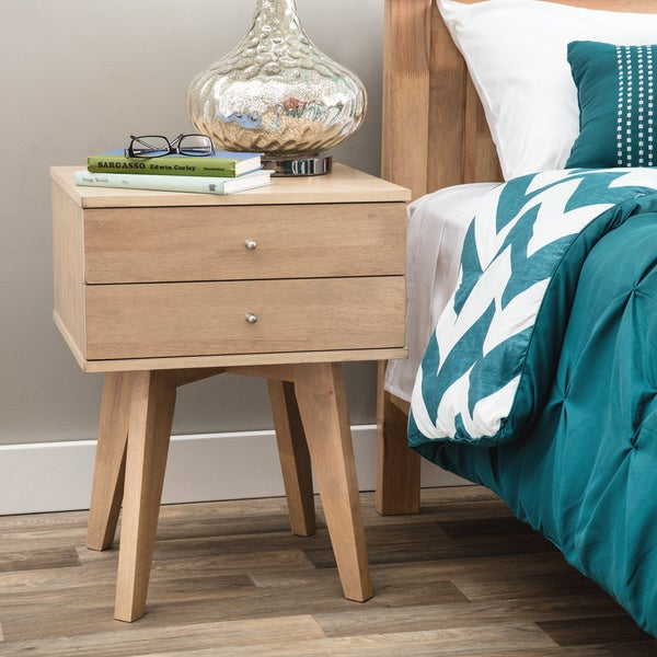 Carson Carrington Jones Birch 2-drawer Nightstand