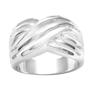 City by City Silvertone Polished Wave Ring