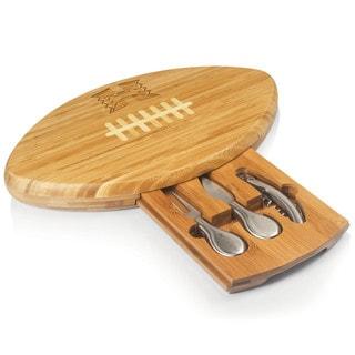 Picnic Time Quarterback University of Hawaii Rainbow Warriors Natural Wood Cutting Board