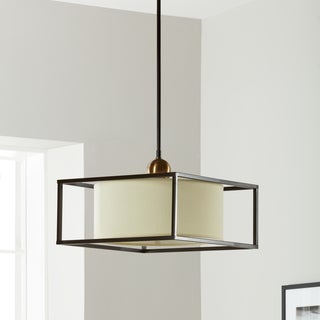 Drum 3 Light Dark Bronze Metal Frame Pendant