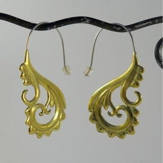 Ethnic Hoops Tribal Fusion Earrings (Indonesia)