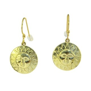 Handmade Spirit 'Here comes the Sun' Medallion Earrings (Indonesia)