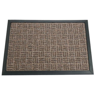 Rubber-Cal 'Wellington' Brown Entrance Carpet Mat (18 x 30 inches)